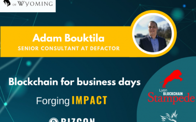 We are happy to welcome Adam BOUKTILA to our 2nd Lyon Blockchain Stampede