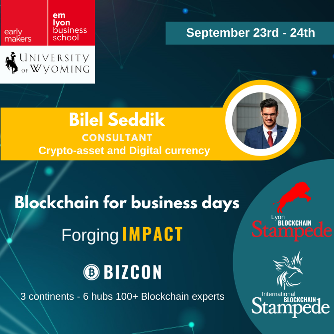 We are happy to welcome Bilel Seddik to our 2nd Lyon Blockchain Stampede
