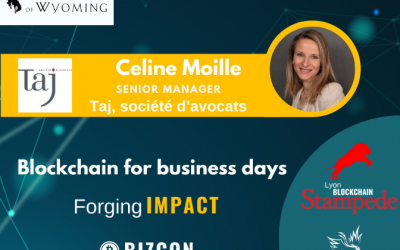 We are happy to welcome Céline Moille to our 2nd Lyon Blockchain Stampede
