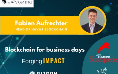 We are happy to welcome Fabien AUFRECHTER to our 2nd Lyon Blockchain Stampede