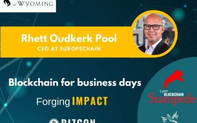 We are happy to welcome Rhett OUDKERK POOL to our 2nd Lyon Blockchain Stampede