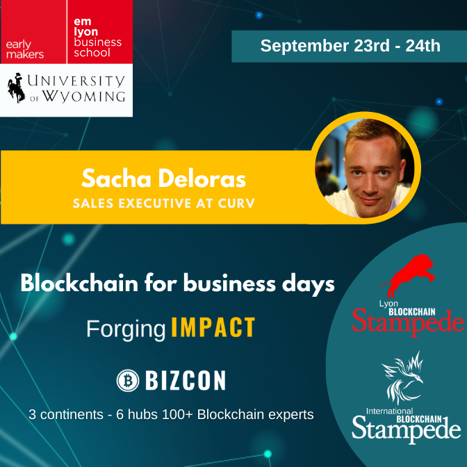 We are happy to welcome Sacha DELORAS to our 2nd Lyon Blockchain Stampede